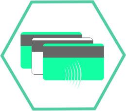 cartões e credenciais de proximidade
